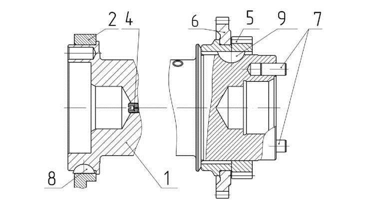 Сборочный чертеж коленчатого